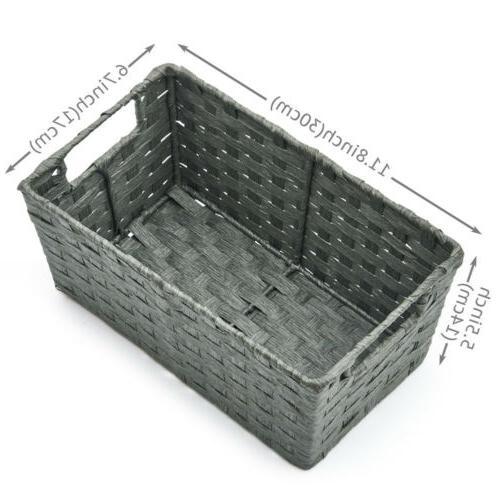 3pc Storage Wicker Baskets bins Boxes