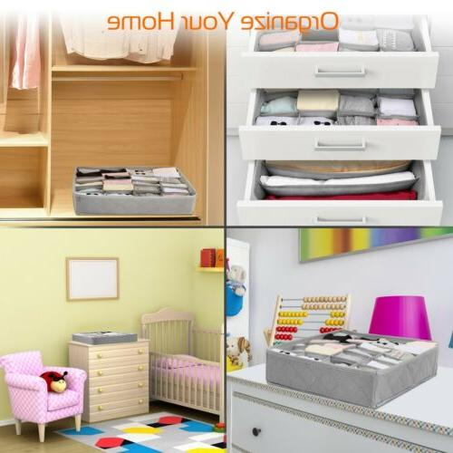 3pcs Drawer Divider Underwear Socks Bra Container Storage Box