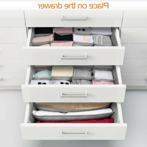 3pcs Drawer Divider Closet Underwear Socks Bra Organizer Container