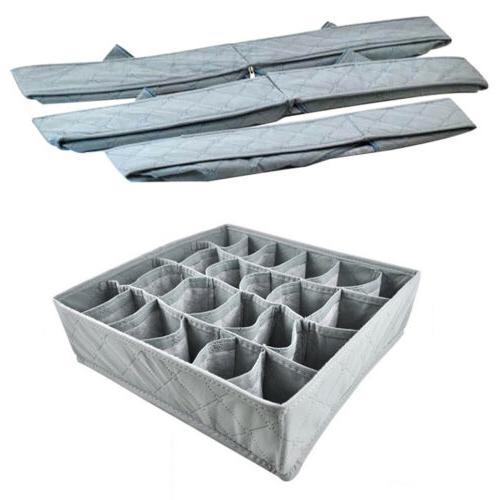 3PCS Closet Organizer Divider Storage Box For Underwear Bra
