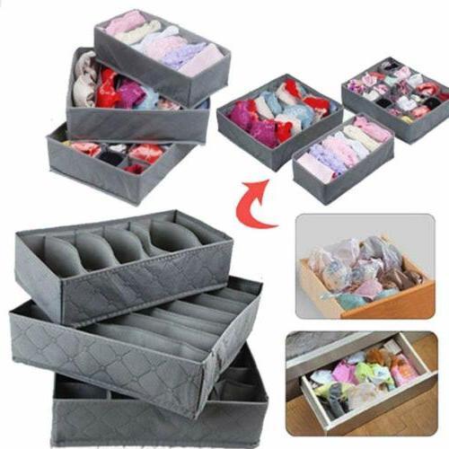 3pcs foldable drawer organizer divider closet storage