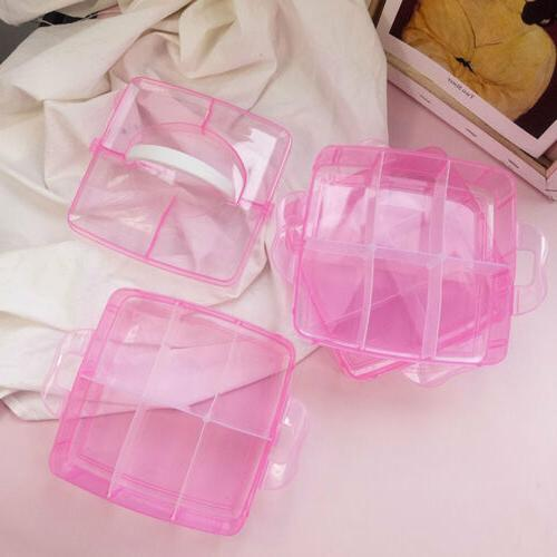 2 Plastic Storage Jewelry Container Holder Tool