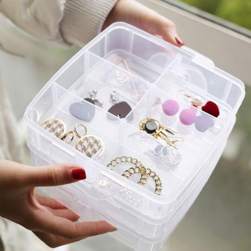 3Tray Bead Organizer Storage Container Tool Case
