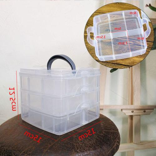 3Tray Plastic Bead Container Tool Case