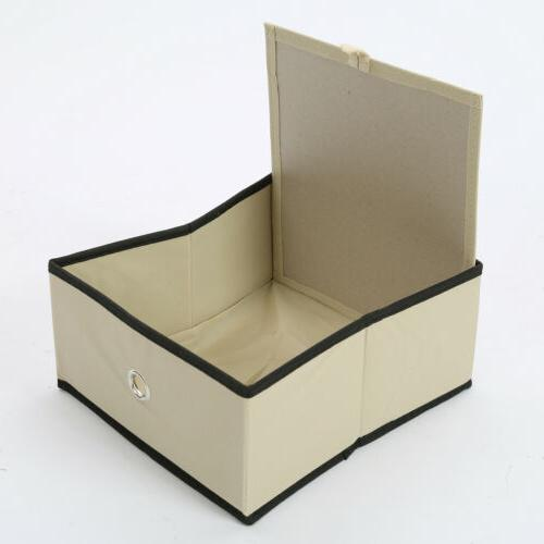 4/8Pcs Folding Storage Half Cube for Kids Toy Organizer