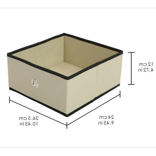 4/8Pcs Folding Storage Half Box Organizer