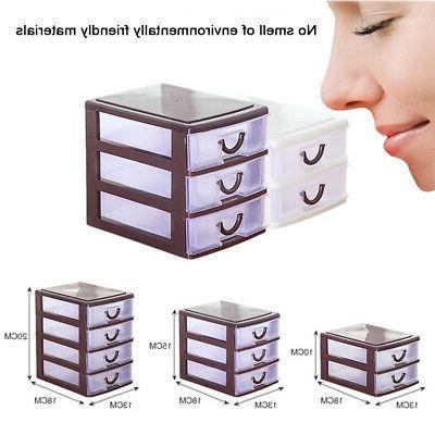 4 drawer plastic storage tower organizer cabinet