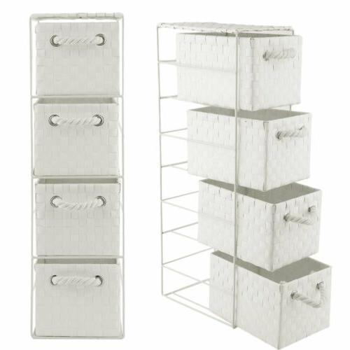4 drawer storage cabinet weave cart plastic