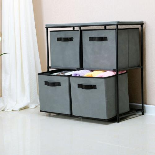 4 drawer storage chest shelf unit storage