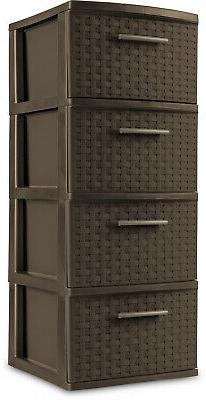 4 Drawer Cabinet Clothes Box Bedroom