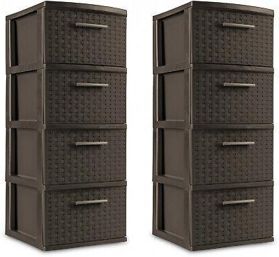 4 drawer storage plastic cabinet organizer tower