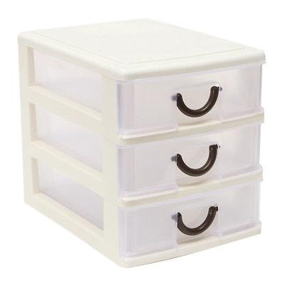 4 Organizer Plastic Storage Bin Box US