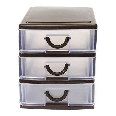 4 Drawer Tower Organizer Plastic Cabinet Bin Box US