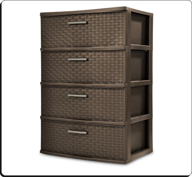 4 Organizer Storage Cart Set Espresso