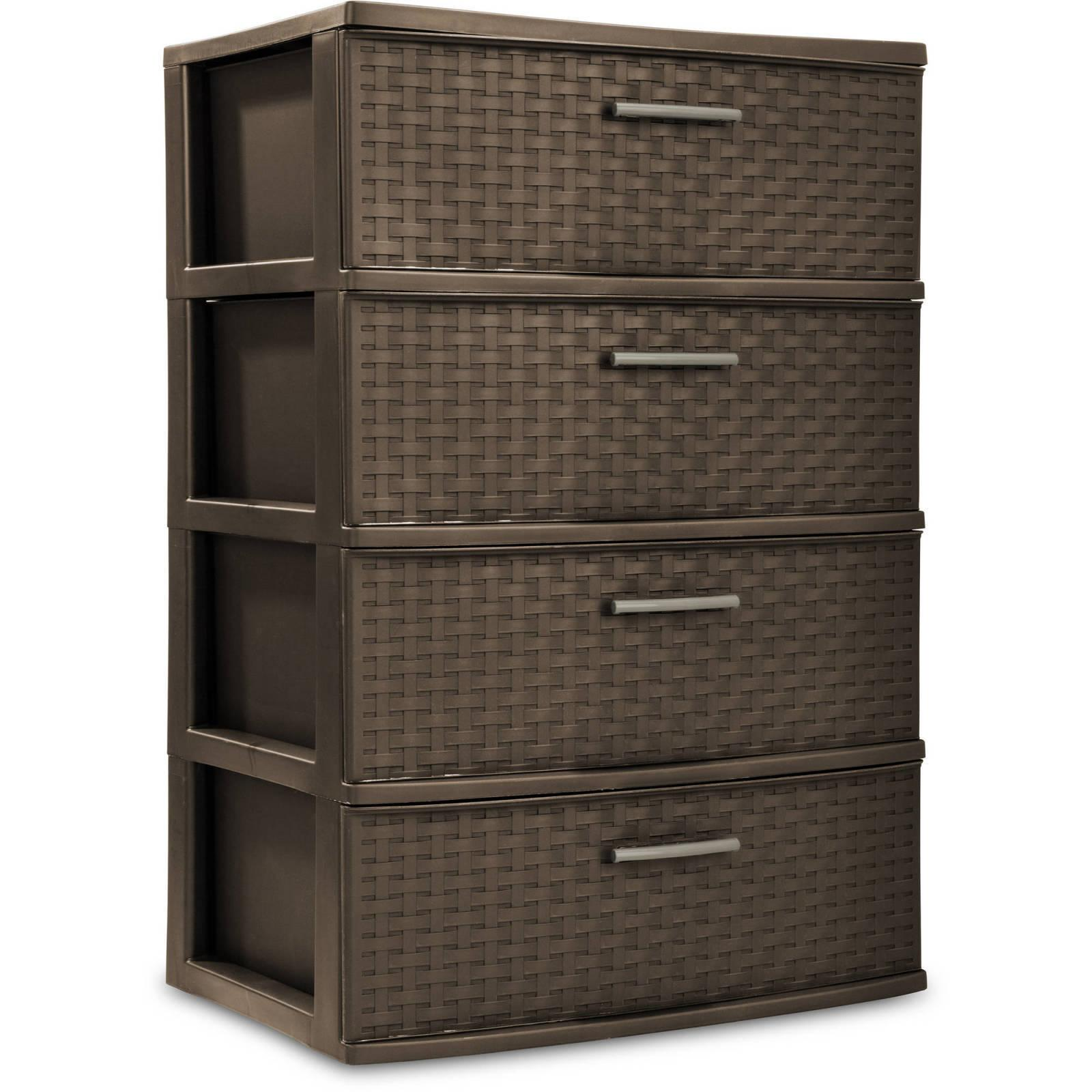 4 Storage Set Of Plastic Espresso