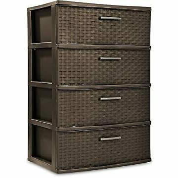 4 drawer wide storage cart