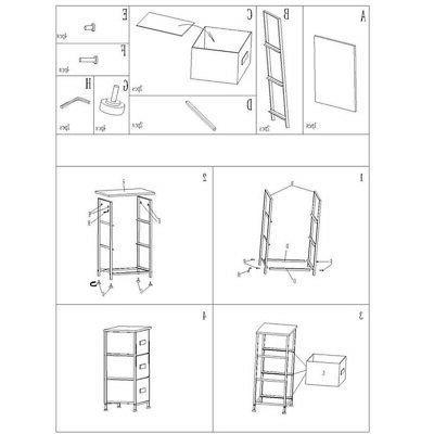 4-layer Cabinet Clothes Closet Rack