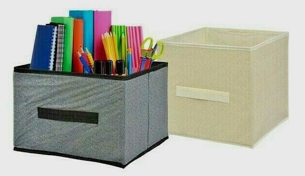 4 pack Foldable Cubes Fabric Shelf Box