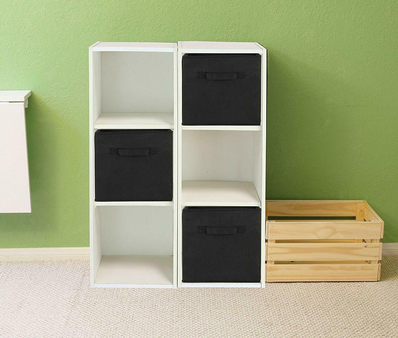 4 Foldable Storage Cubes Collapsible Fabric Shelf Organizer Basket Box