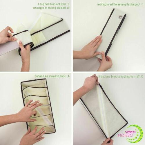 4 Organizer Divider Foldable Set