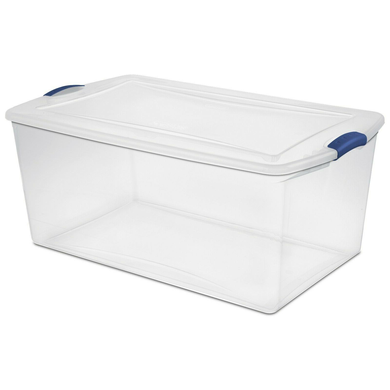 4 Plastic Storage Large Stackable Container NEW