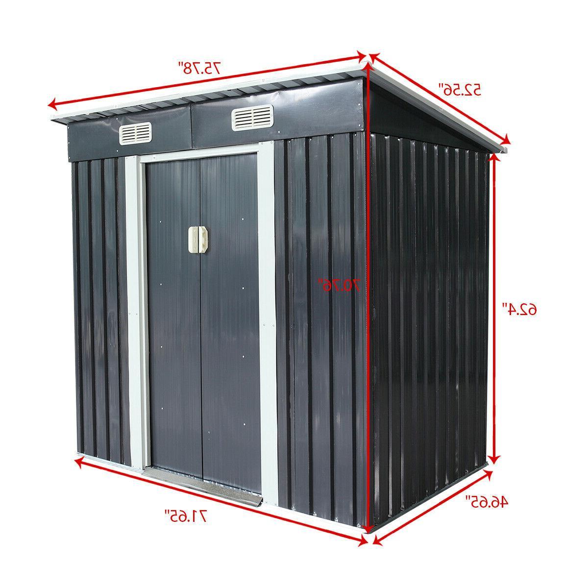 4 Storage Shed Tool Box Steel Utility Backyard Garden