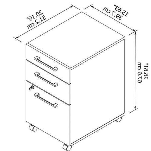 Bush Series 3 File Cabinet Maple