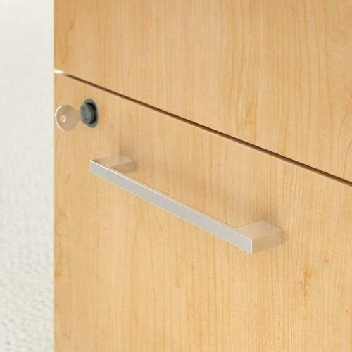 Bush Furniture Series 3 Drawer Mobile File Maple
