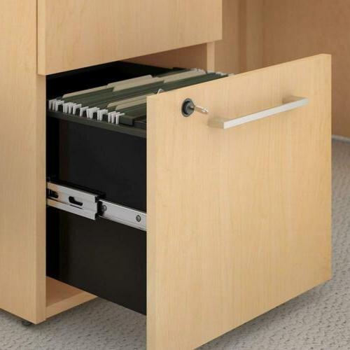 Bush Business Furniture Series 3 Mobile File Cabinet Natural Maple