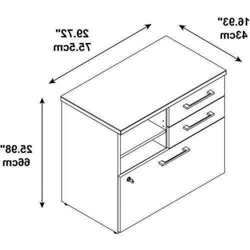 Bush Series 30W Piler Filer Cabinet Maple