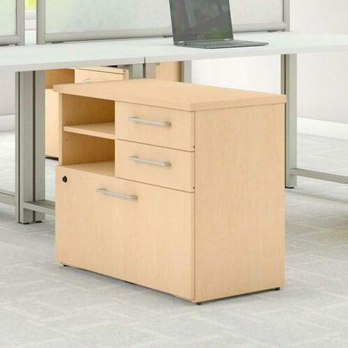 Bush Business Furniture Series 30W Piler Cabinet in Natural