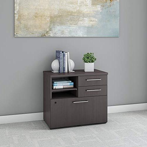 Bush Business 400 Series Filer Cabinet in Gray