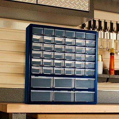 42-Drawer Hardware Craft Parts Tool Bin Box Organizer
