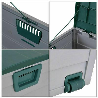 """44"""" Deck Box Outdoor Patio Garage Shed Tool Bench"""