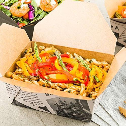 45-OZ Take – #8 Kraft Brown Interior Out Box – Fold Environment-Friendly – 50-CT –