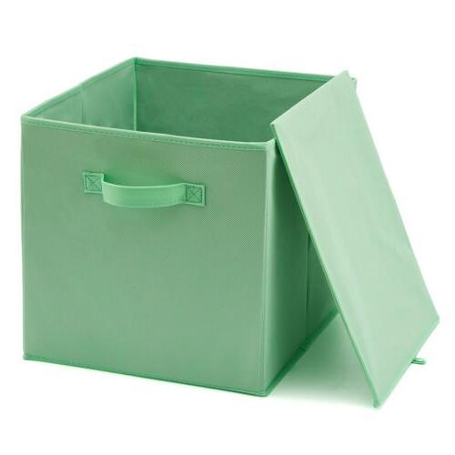 EZOWare 4 Pack Storage Basket Bin Cubes for home Shelves