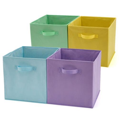 4pack storage basket bin cubes boxes