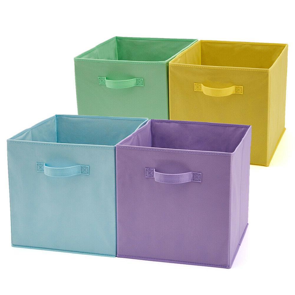 EZOWare 4pc 13inch Basket Bins, Storage Rack