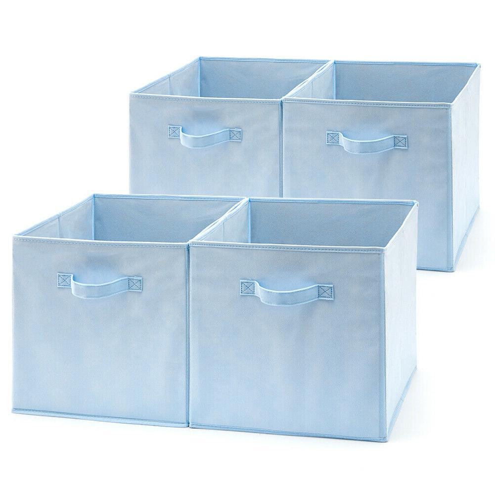 4pc 13inch fabric basket bins storage cube