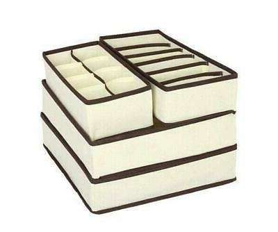 4PCS Fabrics Storage Boxes Organization Box