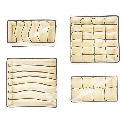 4PCS Non-woven Fabrics Storage Boxes Home Box