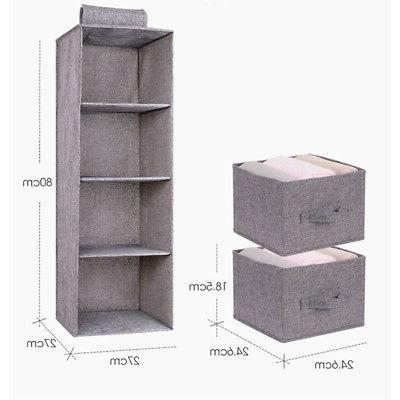 5/4/3Layer Drawer Closet Shoe Clothes Basket Box