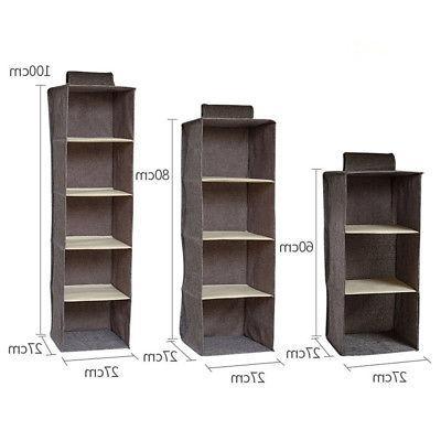 5/4/3Layer Shelf Closet Organizer Basket Storage