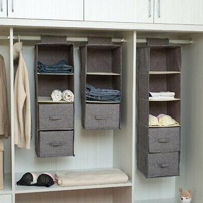 5 4 3layer drawer shelf hanging closet