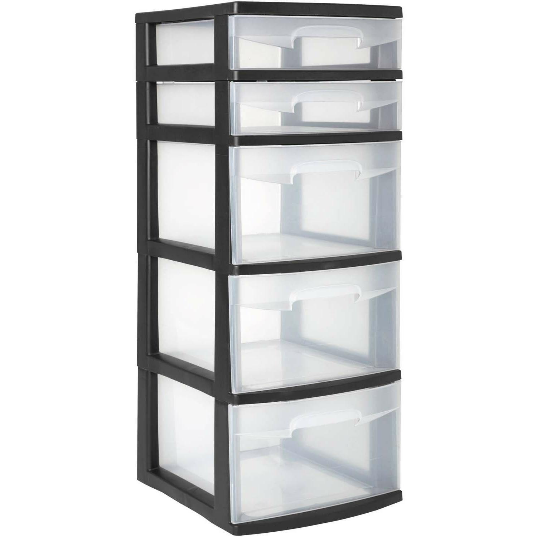 5 Organizer Home Cabinet Storage Black 2