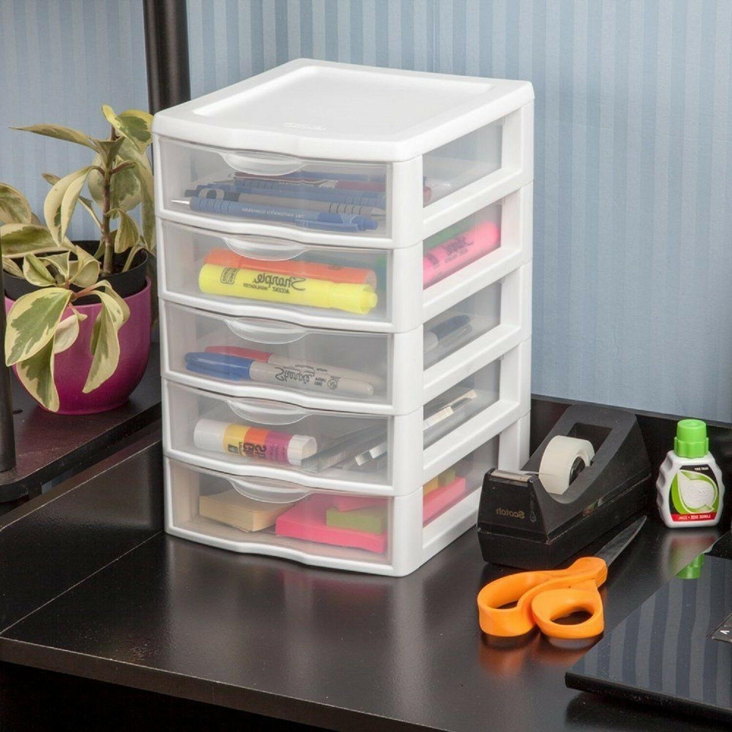 5 Drawer Tower Organizer Storage Cabinet Box Furniture