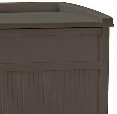 50 Gallon Bench Patio Box Deck Yard Brown