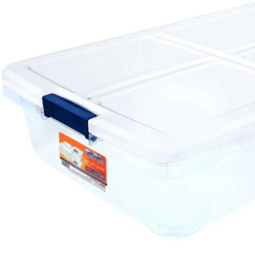 52 QUART BOX Latch Container Bed Clear with Lid
