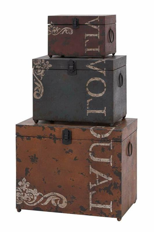 53854 metal trunks set of 3 16