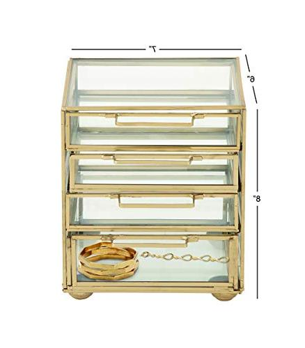 Deco Gold 4-Drawer